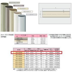 日本プラスチック たてどい用カラーパイプ VP管 50×4000|interiortool