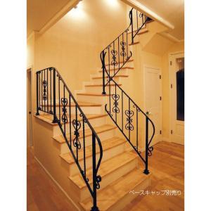 ハーティー 室内手摺 傾斜部/1m MA5-OSF004|interiortool