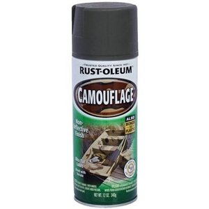 ラストオリウム カモフラージュ 340g 2色で迷彩柄 スプレー塗料 カーキ|interiortool