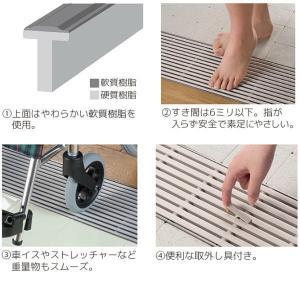 シマブン セーフティグレーチング ノンスリップ樹脂製 逆目タイプ標準仕様 GRS-25W150|interiortool|02