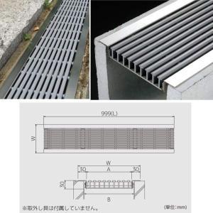 シマブン U字溝用樹脂グレーチング(歩道用) ダークグレー GRU-100|interiortool