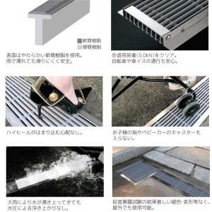 シマブン U字溝用樹脂グレーチング(歩道用) ダークグレー GRU-100|interiortool|02