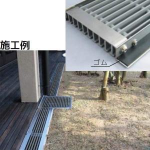 シマブン U字溝用樹脂グレーチング(歩道用) オプション 消音用ゴム 1m GRU-OP2|interiortool
