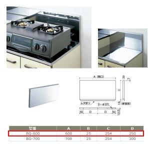 サヌキ ステンレス製 バックガード BG-600 寸法:600×25mm|interiortool