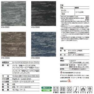 タジマ カーペットタイル タピス アムニス 500×500mm 10mm厚 8枚(2平米)|interiortool|02