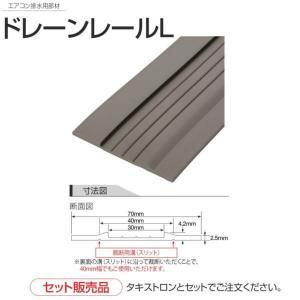 タキロン ドレーンレールL 集合住宅エアコン排水用 厚さ4.2mm 巾70mm×長25m巻|interiortool