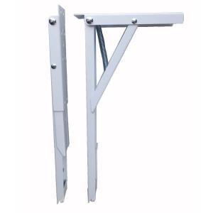 田邊金属 TANNER ジャンボ45 棚受け 耐荷重100kgの折りたたみ式 棚受け金具 1組(2本)|interiortool