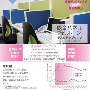 東京ブラインド フェルトーン デスクトップタイプ 基本吸音パネル 幅700×高さ450 厚30mm 両面吸音仕様 全8色 どれか1つ interiortool 03