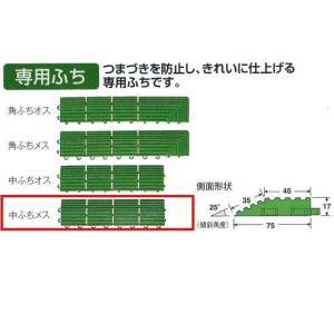 テラモト 人工芝 ハードターフ専用 中ふちメス MR-003-594-1 緑 約75×300mm|interiortool