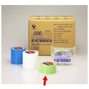 寺岡製作所 養生テープ Pカットテープ NO.4100 若葉 グリーン 巾50mm×長25m 1巻|interiortool