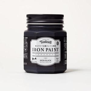ターナー色彩 アイアンペイント 水性塗料 アイアンブラック 200ml|interiortool