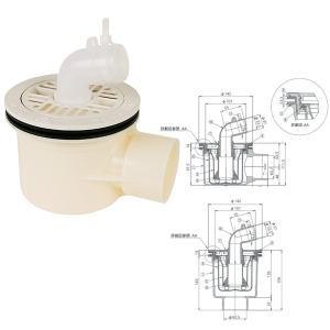 テクノテック 防水パン用排水トラップ T.Tトラップ PNT-W 横引排水口 有色/アイボリーホワイト|interiortool