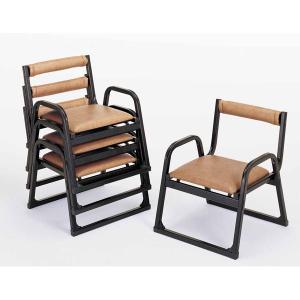 UACJ 本堂用椅子 4-LTA型 低座タイプ 黒色 65333 5脚セット|interiortool