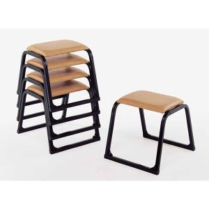 UACJ 本堂用椅子 1-TB型 黒色 65334 5脚セット|interiortool