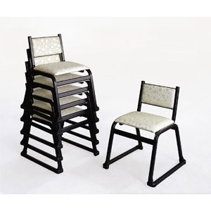 UACJ 本堂用椅子 5-TA型 黒色 65364 5脚セット|interiortool