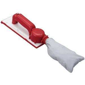 ヤヨイ化学 充電池式集塵サンダー 楽雷 RED&WHITE 334-083|interiortool