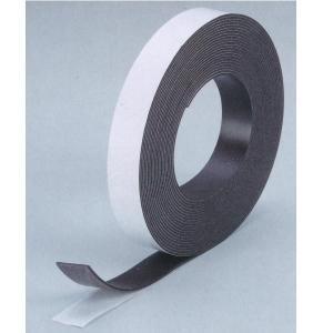 送料無料 マグネットラバー強磁タイプ(テープ付き) 2mm厚×巾30mm×長10m 1本 381-905|interiortool