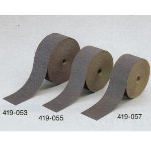 サンドペーパーロール 粒度80 巾75mm×長23m 1巻 419-057|interiortool