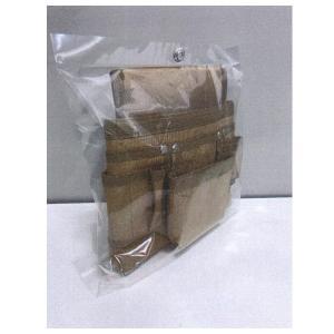 頑張ったバージョン 形にこだわったヨコ型腰袋 外側のポケットも独立しており、動いても中身がこぼれにく...