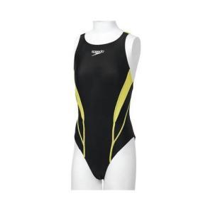 スピード 水着 ガールズ 競泳用 FLEX ZERO JRエイムカット SD36B07 WL ライム|interiortool