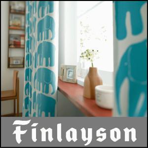 フィンレイソン エレファンティ ドレープカーテン 1.5倍ひだ 幅〜100cm 丈125〜155cm|interiorzakka