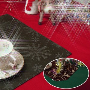 クリスマスカラー テーブルクロス デリシャスカラー 130×200cm 撥水加工|interiorzakka