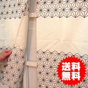のれん 暖簾 麻の葉 約85×140cm|interiorzakka