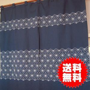 のれん 暖簾 麻の葉 約85×85cm|interiorzakka