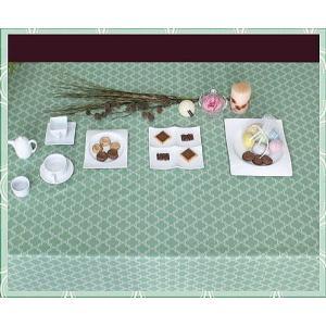 テーブルクロス エッセンス 132×132cm さっと拭けるビニール製 interiorzakka