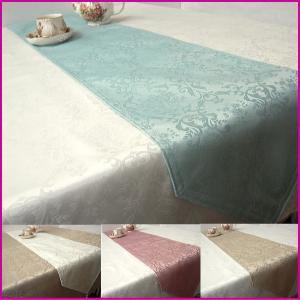 テーブルランナー センター 撥水 ジャガード織ダマスク柄 サイズ約30×180cm|interiorzakka