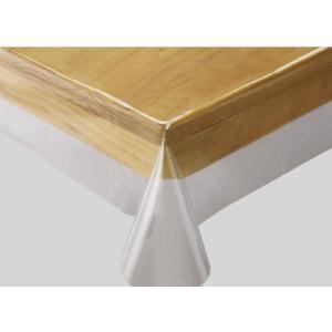 テーブルクロス 透明ビニルクロス 130×130センチ|interiorzakka