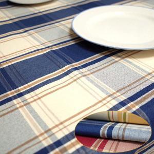 テーブルクロス 北欧 撥水 チェック サイズ 140×230cm 6人掛けのテーブルクロス|interiorzakka