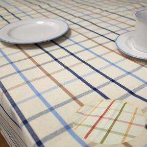 テーブルクロス 北欧 撥水 ラティス 格子のデザイン サイズ 140×230cm 6人掛けのテーブルクロス|interiorzakka