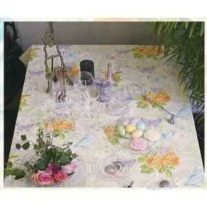 テーブルクロス ノスタルジア 132×132cm さっと拭けるビニール製 interiorzakka
