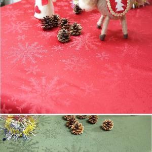 クリスマス テーブルクロス クリスタル140×230cm|interiorzakka