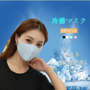 冷感マスク マスク ひんやり 涼しい 洗えるマスク 立体メッシュ夏用マスク (5枚入り)防臭 蒸れない 涼しい 飛沫対策  男女兼用 激安