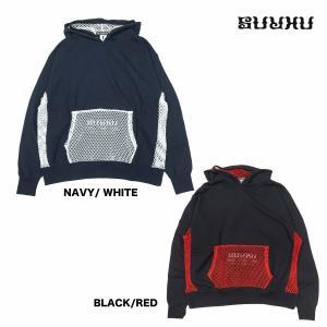 SURKU × SPECIAL ONE MESH HOODIE  BLACK x WHITE|inthestreet-jp
