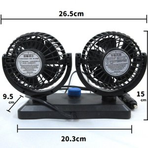 ダブル クール ファン 12V シガーソケット 扇風機 夏 車 冷房効率アップ ひんやり クール|inuya|03