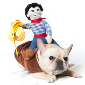 ペット 犬服 おっさんカウボーイ ロデオ(背中乗り M L サイズ) 小型犬/中型犬 ハロウィン グッズ【送料無料】セール inuya 06
