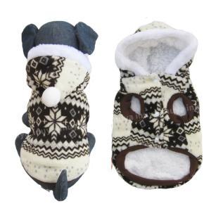 犬服 秋 冬 パーカー ノルディック ボア セーター スノー フレーク ダウン 小型犬 中型犬 もふもふ 厚手 もふもふで暖か 暖かい【送料無料】セール|inuya|03