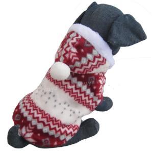 犬服 秋 冬 パーカー ノルディック ボア セーター スノー フレーク ダウン 小型犬 中型犬 もふもふ 厚手 もふもふで暖か 暖かい【送料無料】セール|inuya|04