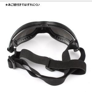 UVカット ゴーグル 本体:ブラック レンズ:ミラー アクセサリー 中型犬 大型犬用 夏 冬 サングラス 犬屋|inuya|02