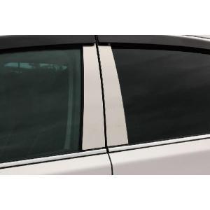 ミツビシ ファサネイト ピラー 市松模様風 H81W ekワゴン 6P ヘアライン カーパーツ 超鏡面 メッキ|inventer