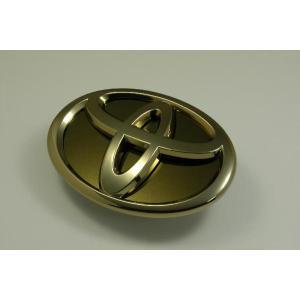 ANH20 アルファード/ヴェルファイア エンブレム トヨタ ステンレス アクセントプレート 鏡面 ゴールド カーパーツ|inventer