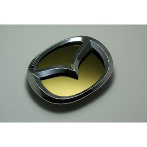 MJ23 AZ−ワゴン エンブレム マツダ ステンレス アクセントプレー ト鏡面 ゴールド カーパーツ inventer