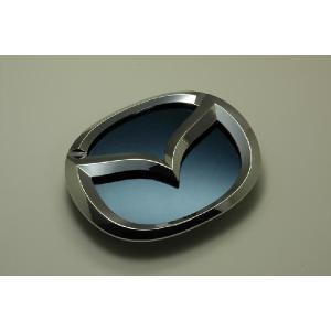 MJ23 AZ−ワゴン エンブレム マツダ ステンレス アクセントプレー ト鏡面 ブルー カーパーツ inventer
