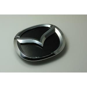 MJ23 AZ−ワゴン エンブレム マツダ ステンレスアクセントプレート ヘアライン ブラック カーパーツ inventer