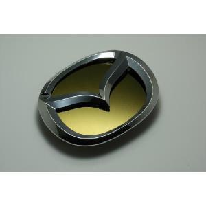 GH5 アテンザスポーツ エンブレム マツダ ステンレス アクセントプレー ト鏡面 ゴールド カーパーツ|inventer