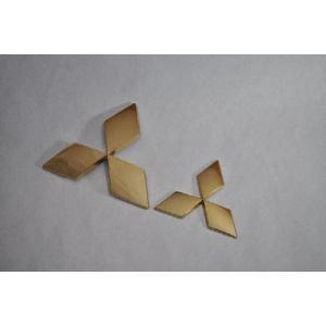 送料無料 ミツビシ B11W ekワゴン ゴールドメッキエンブレム フロント/リア2点セット カーパーツ 純正 メッキ inventer