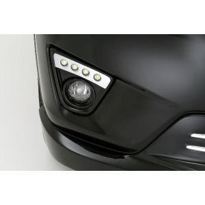 マツダ grow CX−5 前期 LEDフォグランプガーニッシュ 未塗装 カーパーツ|inventer